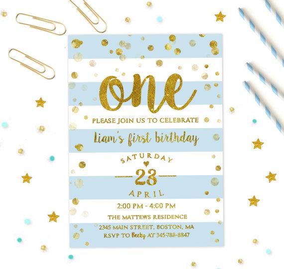 First Birthday Invitation Boy